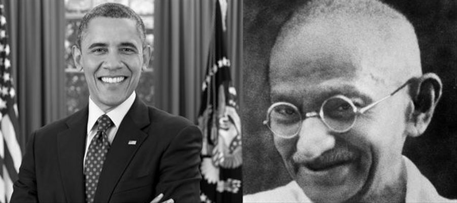 Obama who scripted history shown fascination with Mahatma Gandhi