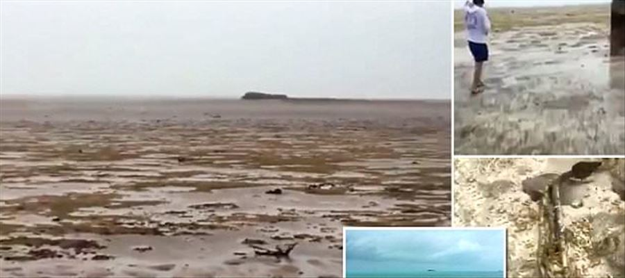 Ocean water missing from coast of Long Island, Bahamas - WATCH THIS VIDEO
