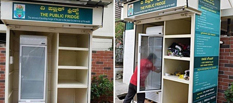 People can donate Excess Food from their homes in Free Food Fridge