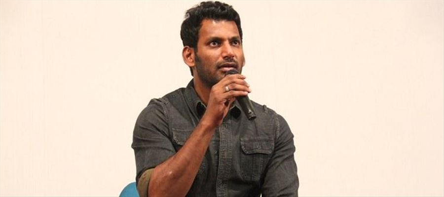 Vishal who staged Dharna is sent out by the Cops!