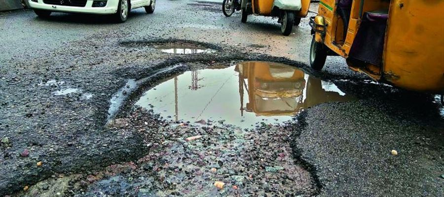 KTR admits that the roads in Hyderabad are 'Pathetic'