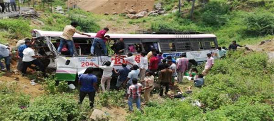 BREAKING - Road Massacre in Jagtial takes away lives of 23 Passengers - Watch Video