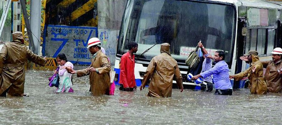 Heavy Rain again lashed Hyderabad