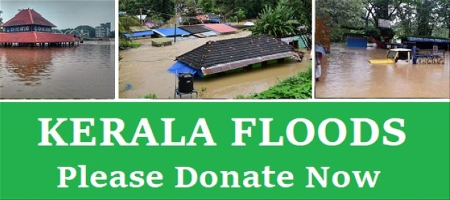 List of links & locations for donating funds & supplies to Kerala Flood Relief