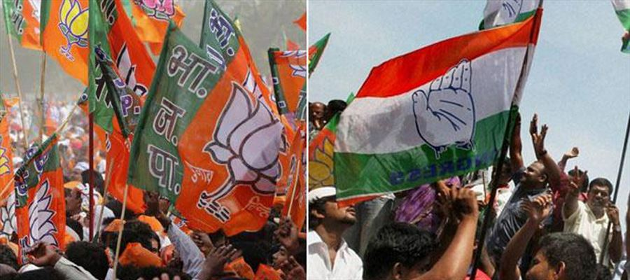 Congress Leads in Chhattisgarh,Rajasthan, TRS in Telangana