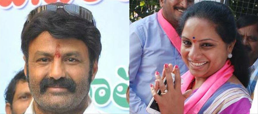 Why TRS Kavita lauded Balayya and NTR?