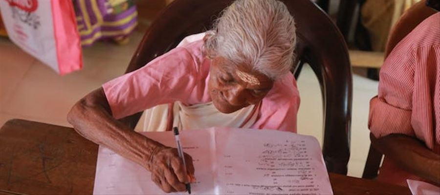 This 96 year old grandma is expert in Reading skill!!!