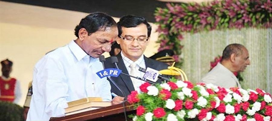KCR took oath as CM of Telangana for Second Time