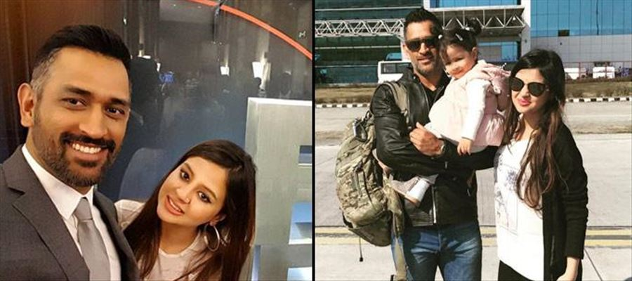 Sakshi Dhoni requests pistol for safety!