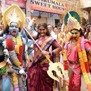 Jogini Shyamala Dance at Secunderabad Lashkar Bonalu Video goes viral on social media