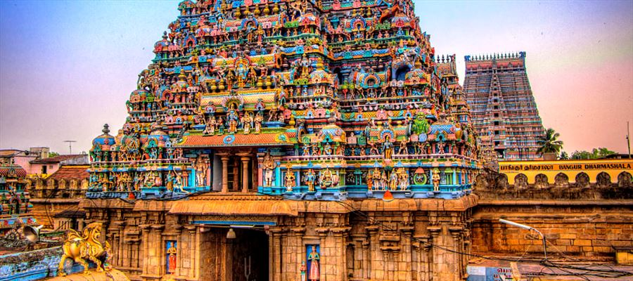 Gopurams of Tamilnadu which is known for its architecture