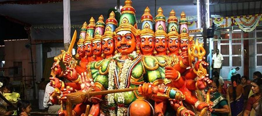 Ravana burning in Dussehra culture!