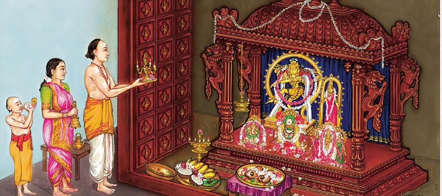 Pooja the process of worshiping God with pure mind and heart