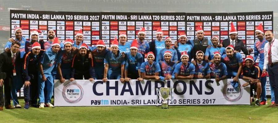 India wins T20 series with a clean sweep!!