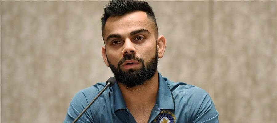 Virat Kohli leading India in his first ICC game as a Captain
