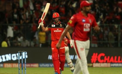 #RCBvKXIP - RCB earns another 2 points as AB De Villiers put on a 360° show