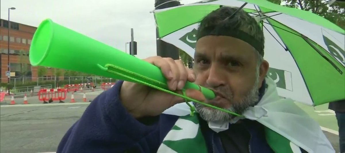 ICC Cricket World Cup 2019 India And Pakistan Fans At Old Trafford Stadium In Manchester