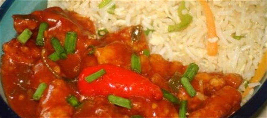 Egg Fried Rice and Chicken Manchurian Recipe Card
